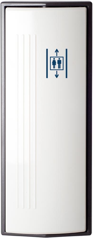 Armbågskontakt JCK203 med symbol hiss