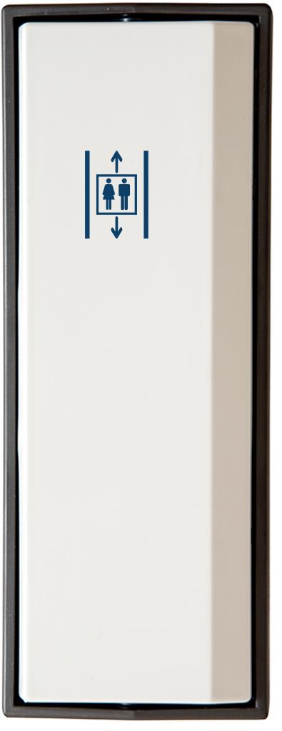 Armbågskontakt JCK103 med symbol hiss