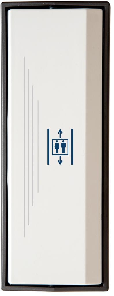 Armbågskontakt JCK103 med taktila ränder och symbol hiss