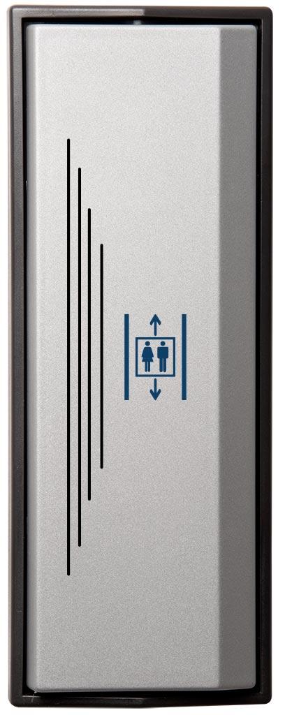 Armbågskontakt JCK105 med taktila ränder och symbol hiss